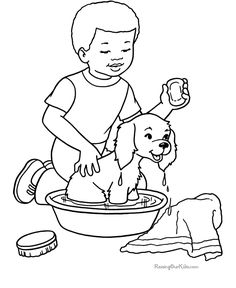 236x288 Farm Work And Chores Coloring Pages Printable Boy Feeding