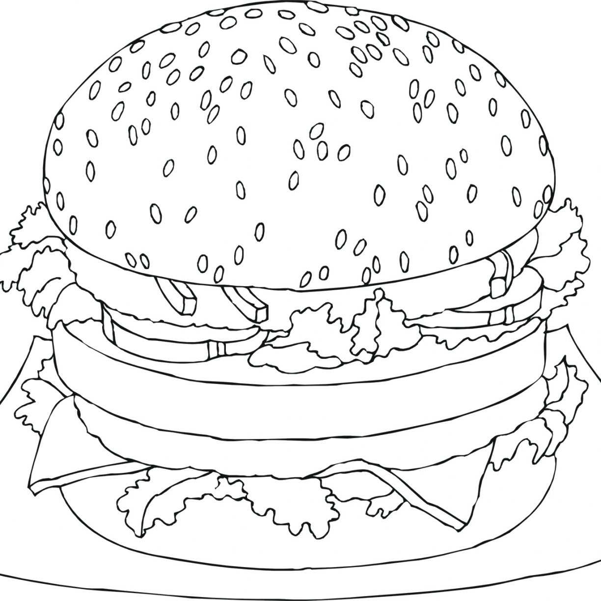 1224x1224 Food Sandwich Coloring Pages Doodle Art Free Kids Peanut Butter