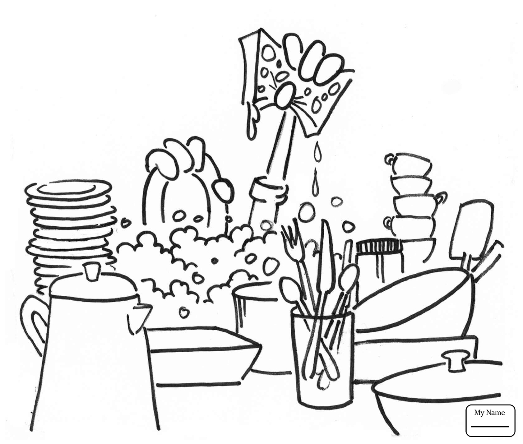 1682x1428 Kids Doing Chores Coloring Pages Download Coloring For Kids