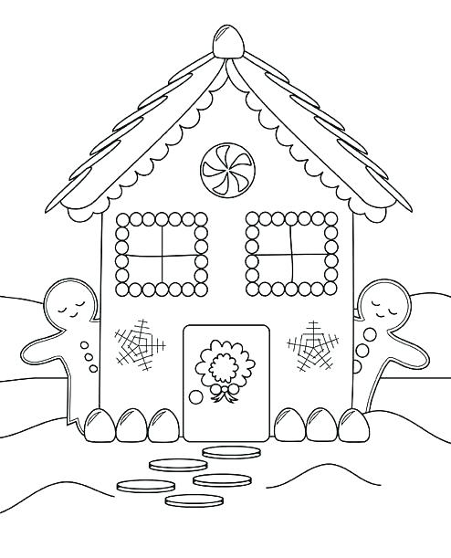 494x611 Coloring Pages House Snowflake Coloring Sheet Gingerbread House