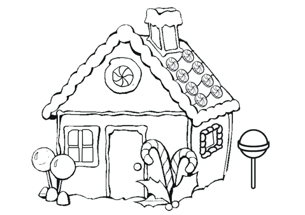 1024x723 Coloring Pages House Very Attractive Gingerbread House Coloring