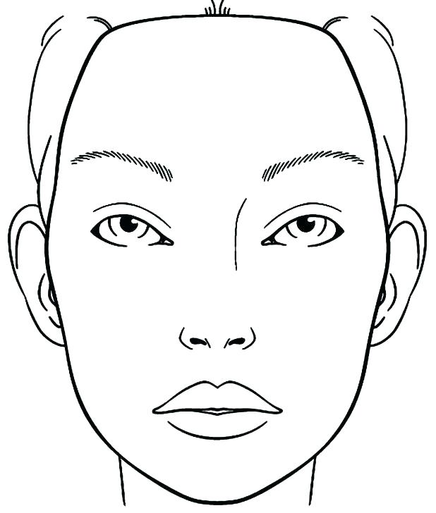 618x728 Blank Face Coloring Page Blank Girl Face Coloring Page Trend