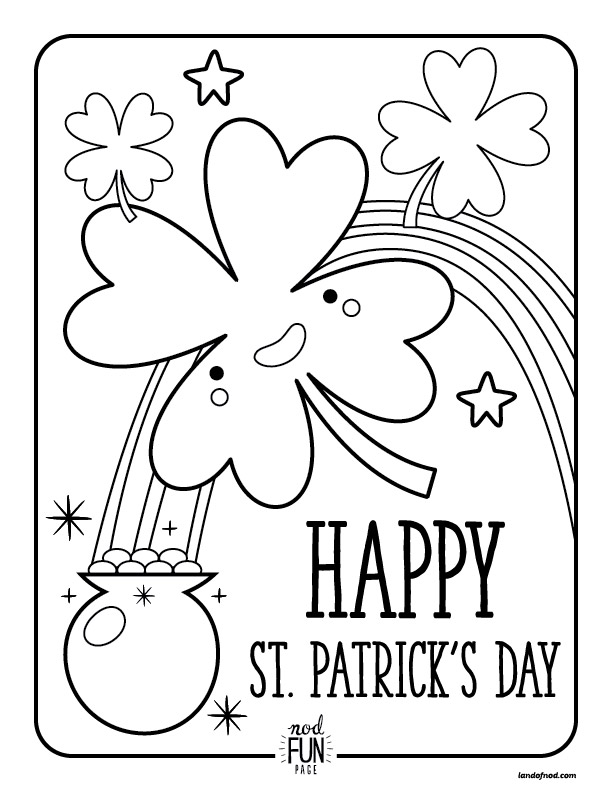 612x792 Free Printable Coloring Pages St Patrick's Day Honest To Nod