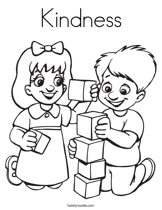685x886 Kindness Coloring Page