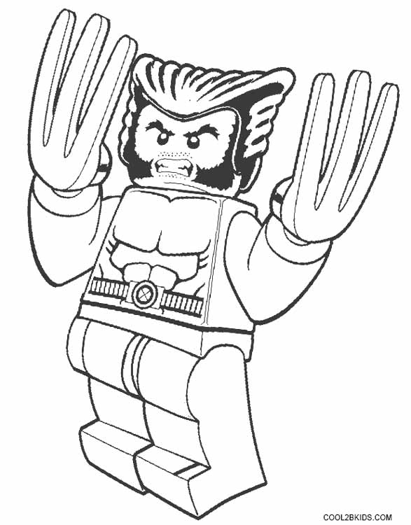 587x750 Printable Wolverine Coloring Pages For Kids