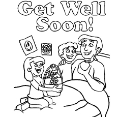 230x230 Top Free Printable Get Well Soon Coloring Pages Online