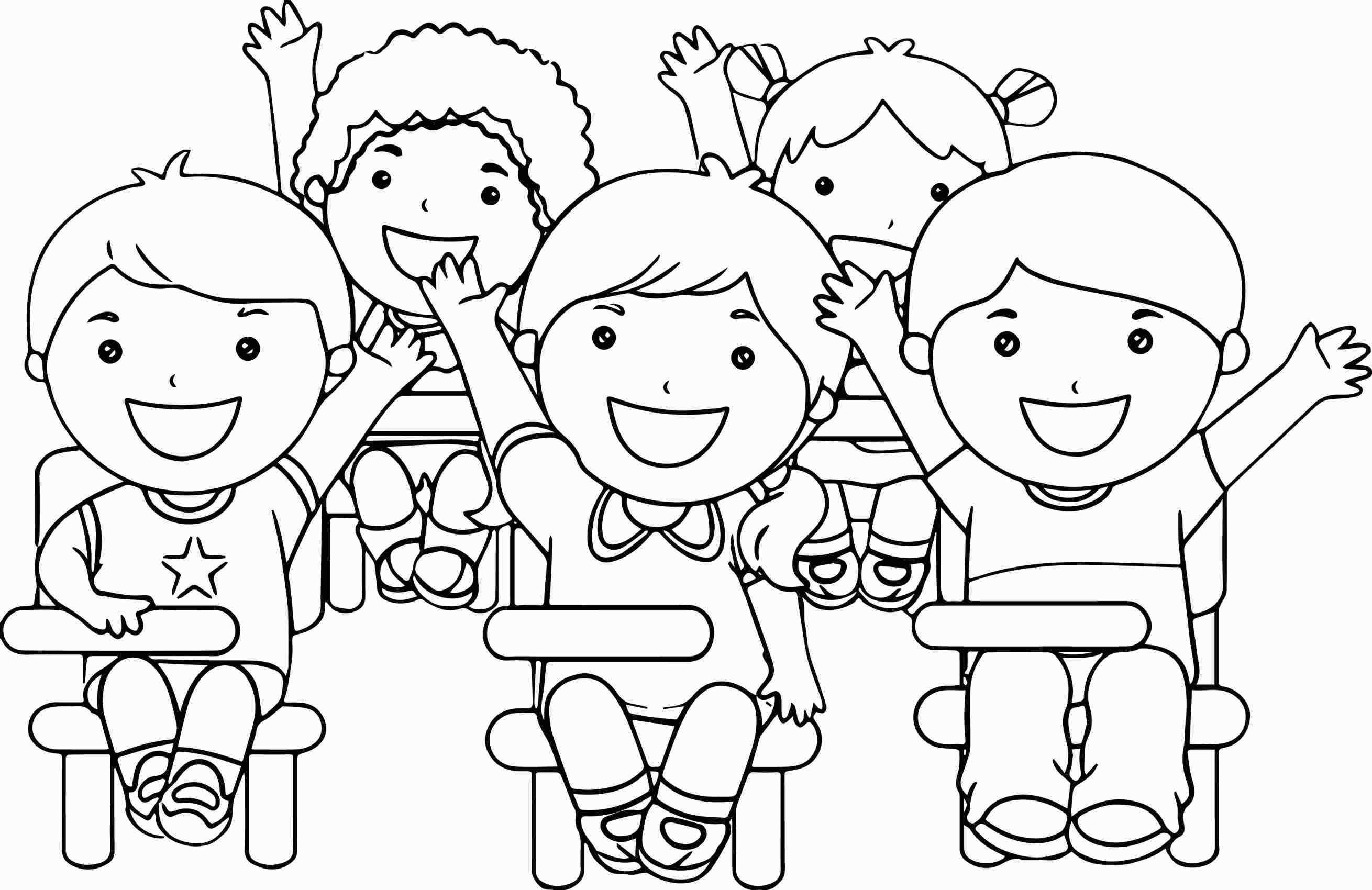 2620x1700 Line Drawing Children Holding Hands Color Clipart Clipground