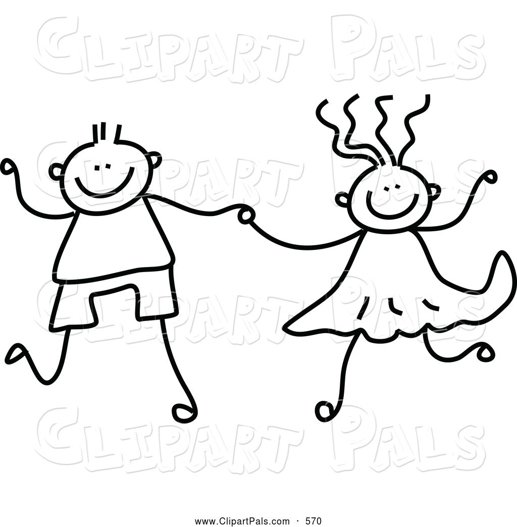 1024x1044 Pal Clipart Of A Black And White Coloring Page Of A Boy And Girl