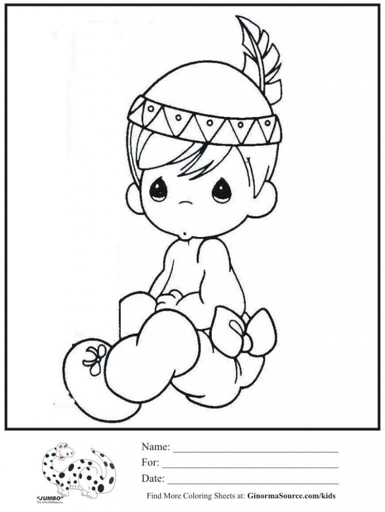 771x1024 Boy Dressed Up Like An Indian Coloring Page Free Printable Kids
