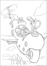 200x280 Dr Seuss The Cat In The Hat Coloring Pages Crafts