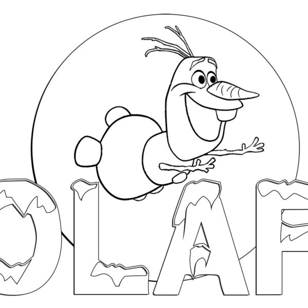 600x600 Printable Coloring Pages Kids Disney Frozen Yspages