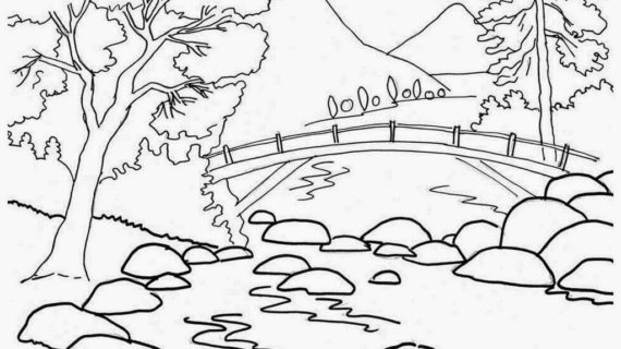 570x320 Nature Drawing For Children Farm Scenery Drawings Gardening