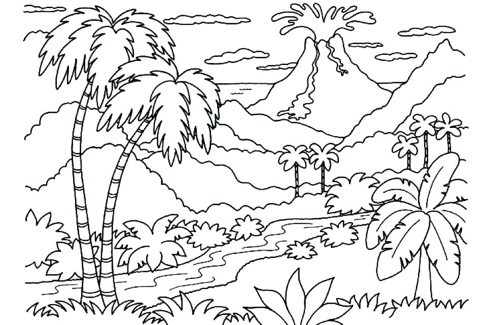 960x640 Coloring Pages Of Nature Coloring Pages Of Nature Nature Scene