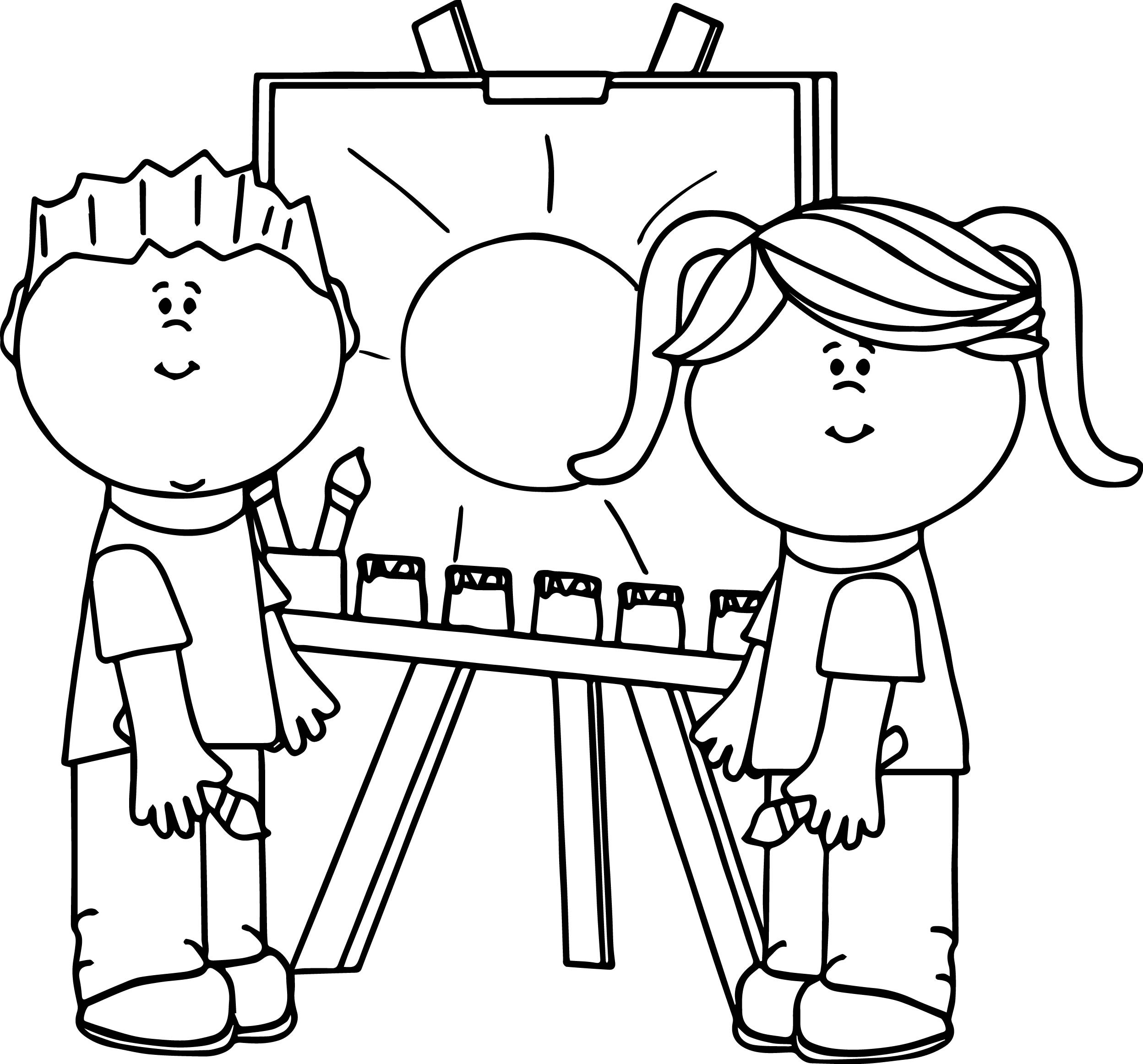 2496x2324 Noddy Paining Coloring Pages For Kids Awesome Kids Making Painting