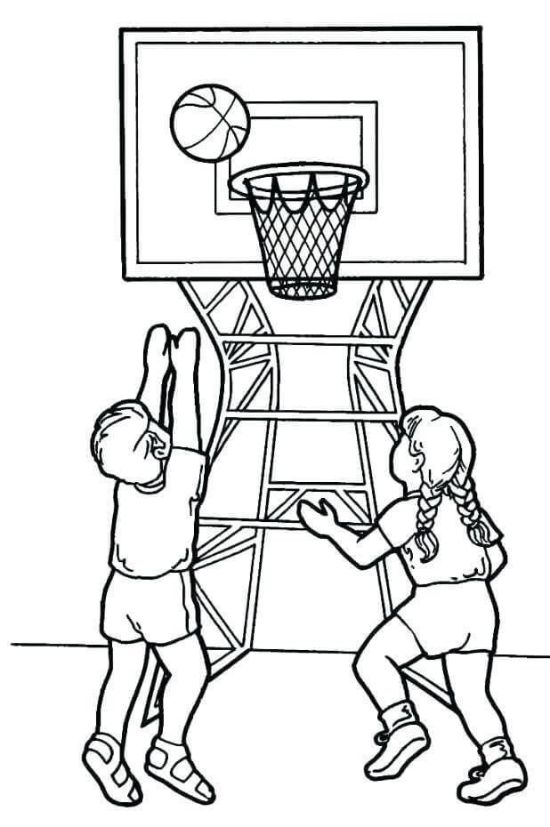 618x930 Free Printable March Madness Coloring Pages