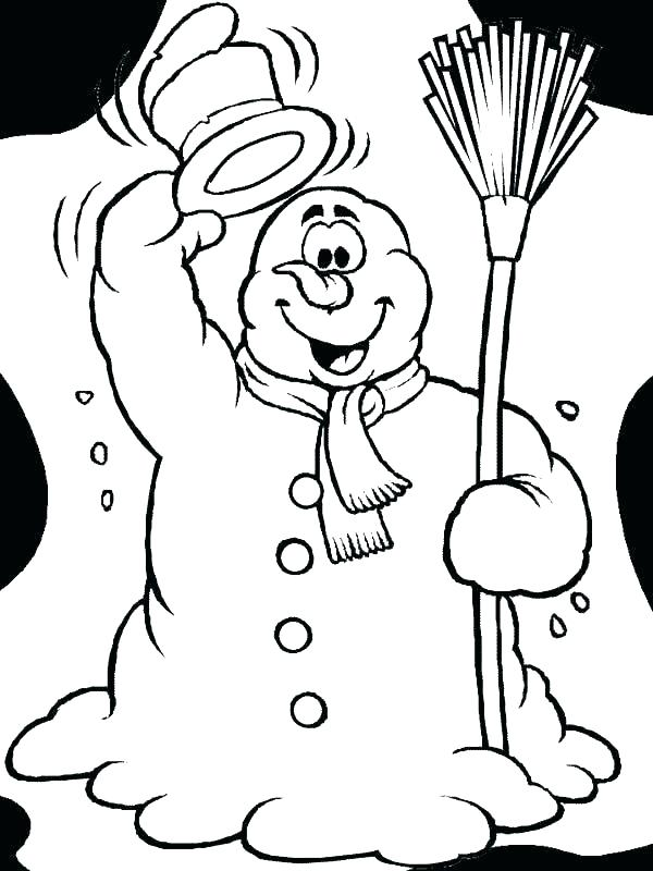 600x800 Idea Kids Playing Coloring Page Or Funny Pages For Adults Snowman