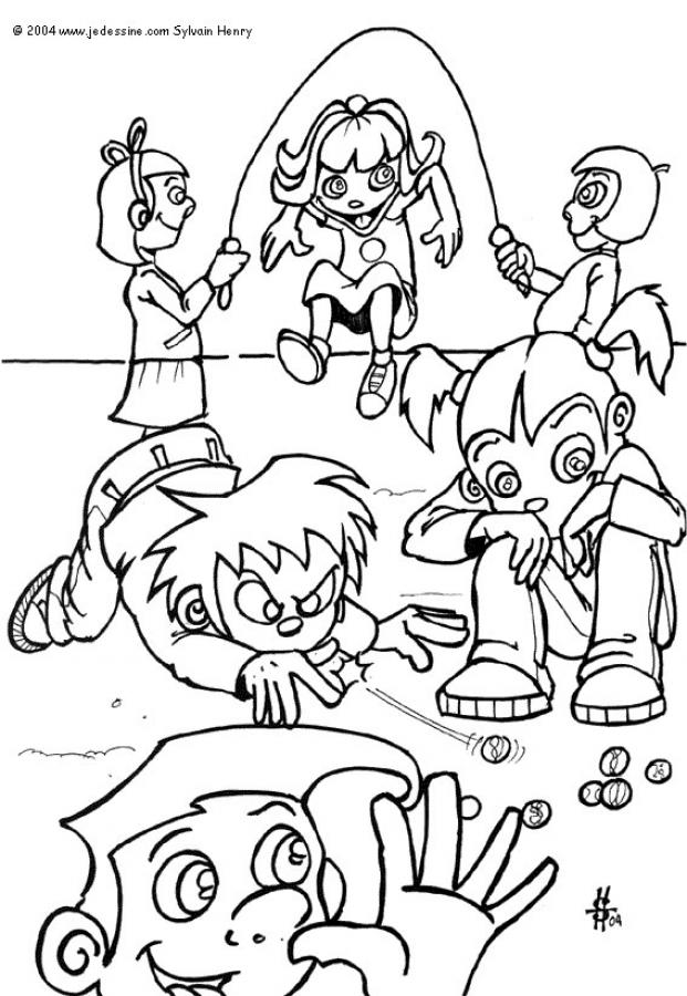 621x900 Kids Playing Coloring Pages