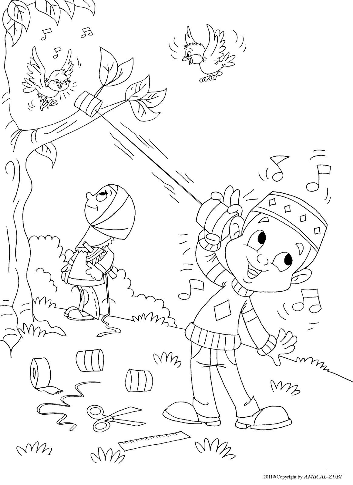 1164x1600 Outside Coloring Page Muslim Boy Coloriages Islamiques