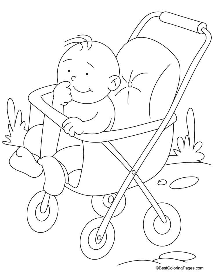 738x954 Pram Coloring Page Download Free Pram Coloring Page For Kids