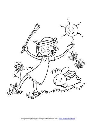 319x412 Spring Coloring Pages