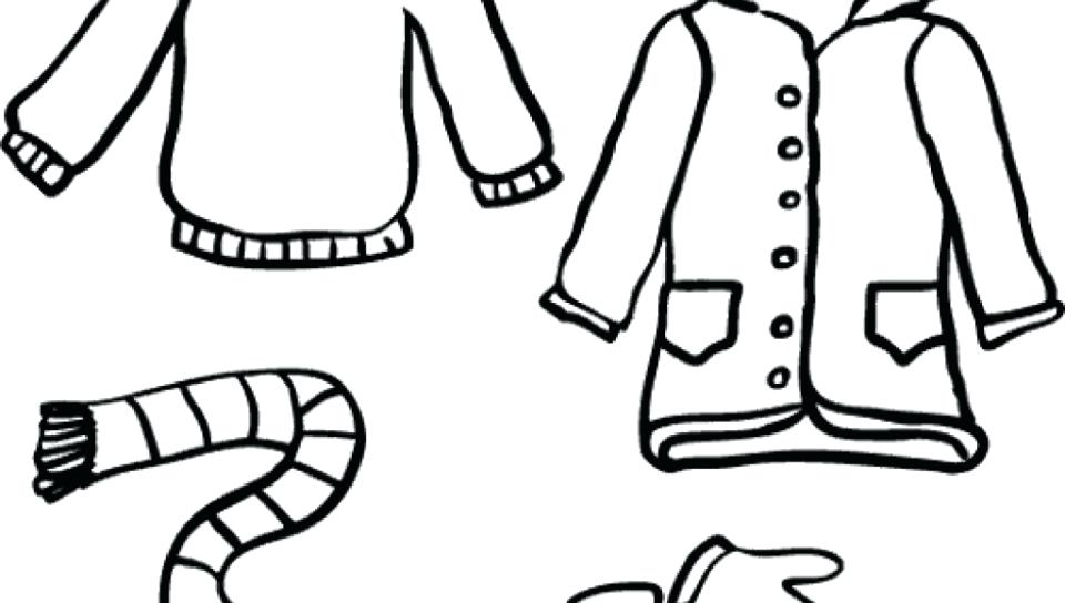 960x544 Winter Clothes Coloring Page Clothing Pages All Outside Free