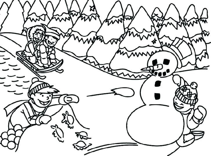 728x539 Coloring Page Kids Playing Professional
