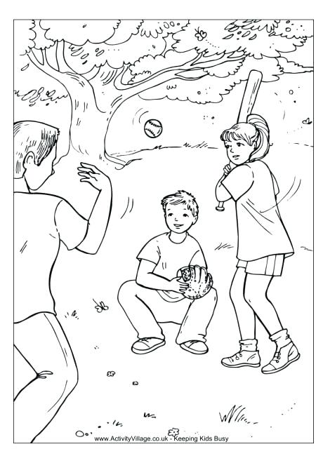 460x650 Beautiful Kids Playing Coloring Page Or Children Outside Pages