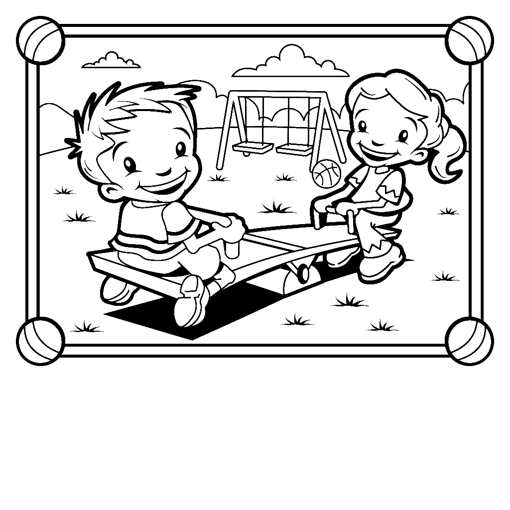 1024x1024 Children Park Coloring Page Wecoloringpage Home Throughout
