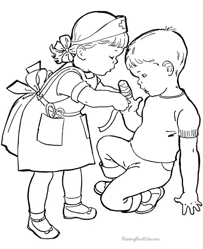 670x820 Children Playing Outside Coloring Pages Color Bros Children