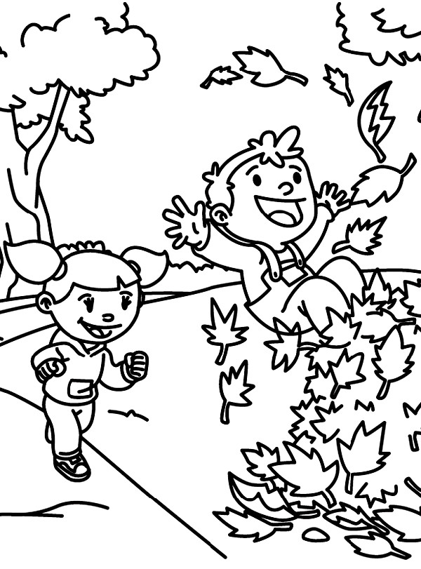 600x811 Children Playing Outside Coloring Pages Color Bros