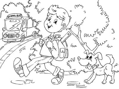 Kids School Coloring Pages