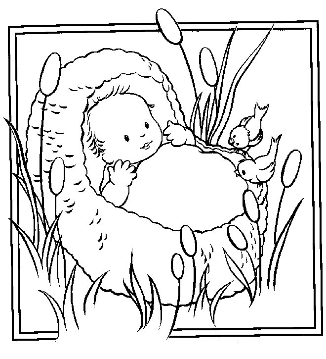 660x725 Baby Moses Coloring Page Awesome Dcfi Line Kidzone Coloring Pages