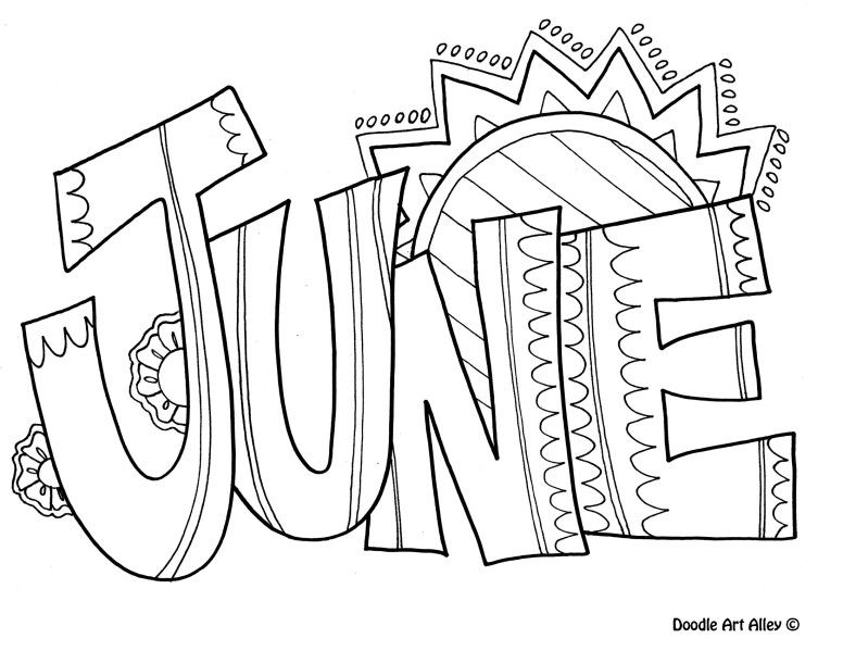 776x599 June Coloring Pages For Kids June Kidzone Crafts