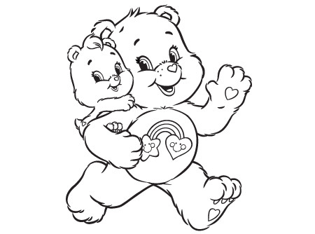 450x334 Wonderheart Bear Coloring Pages Tag Along Care Bears Activity Ag