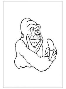 225x300 Free Animals Gorilla Printable Coloring Pages For Kidzone