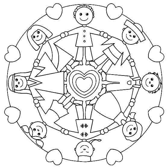 558x553 Coloring Pages For Toddlers Children Of The World Coloring Page