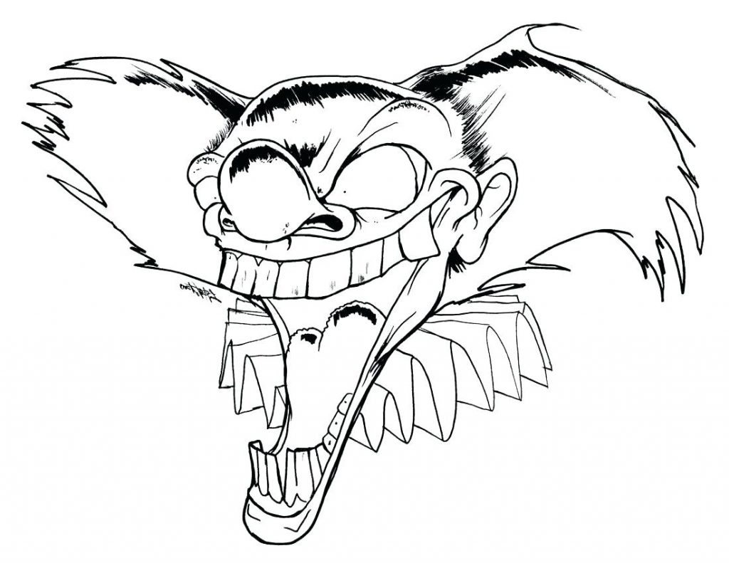 Killer Clown Coloring Pages at GetDrawings | Free download