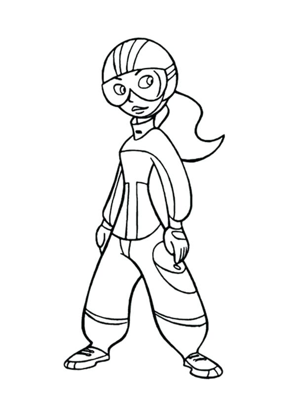 600x834 Kim Possible Coloring Pages Possible Ready In Action Coloring
