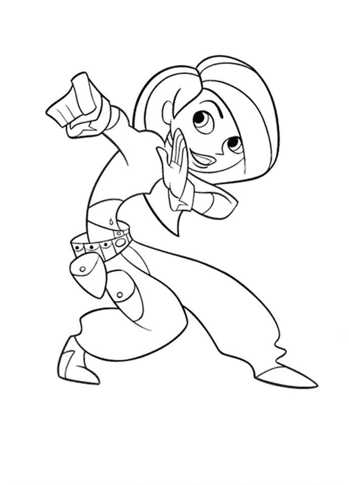 Kim Possible Coloring Pages