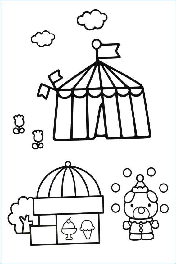 567x850 Hello Kitty Kimono On Garden Coloring Pages