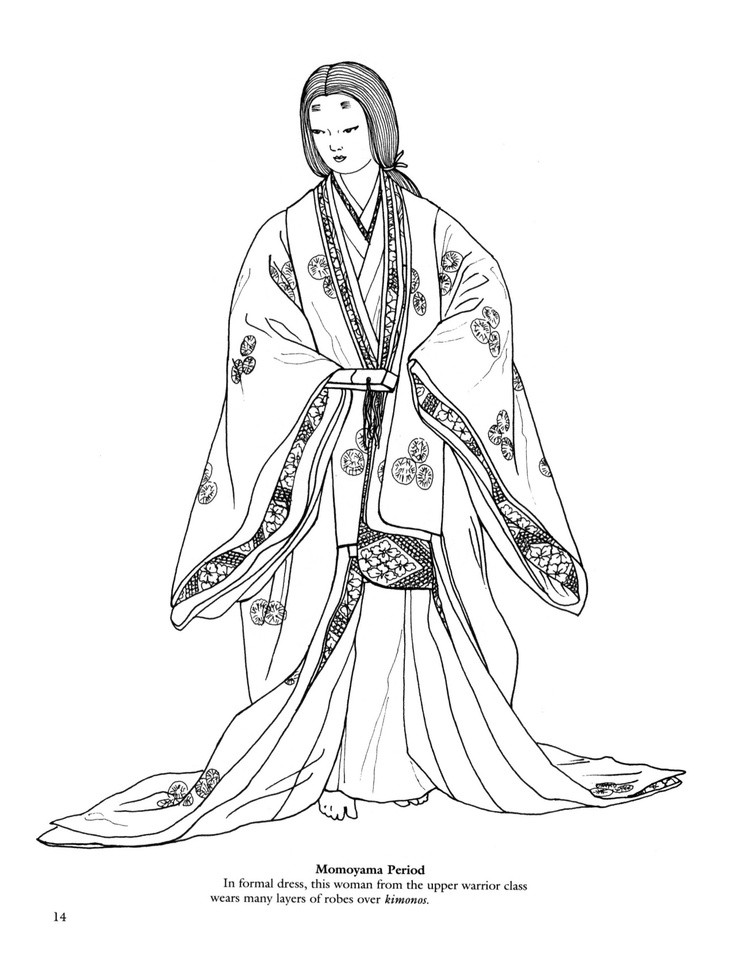 736x956 Japanese Coloring Pages Kimono Lovely Best Coloring Pages