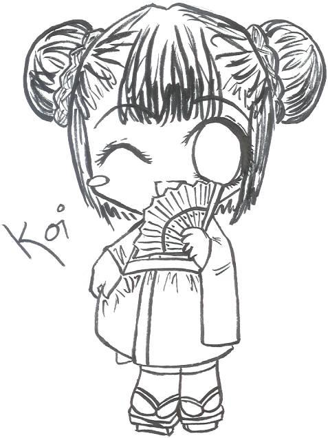 477x636 Kimono Coloring Page