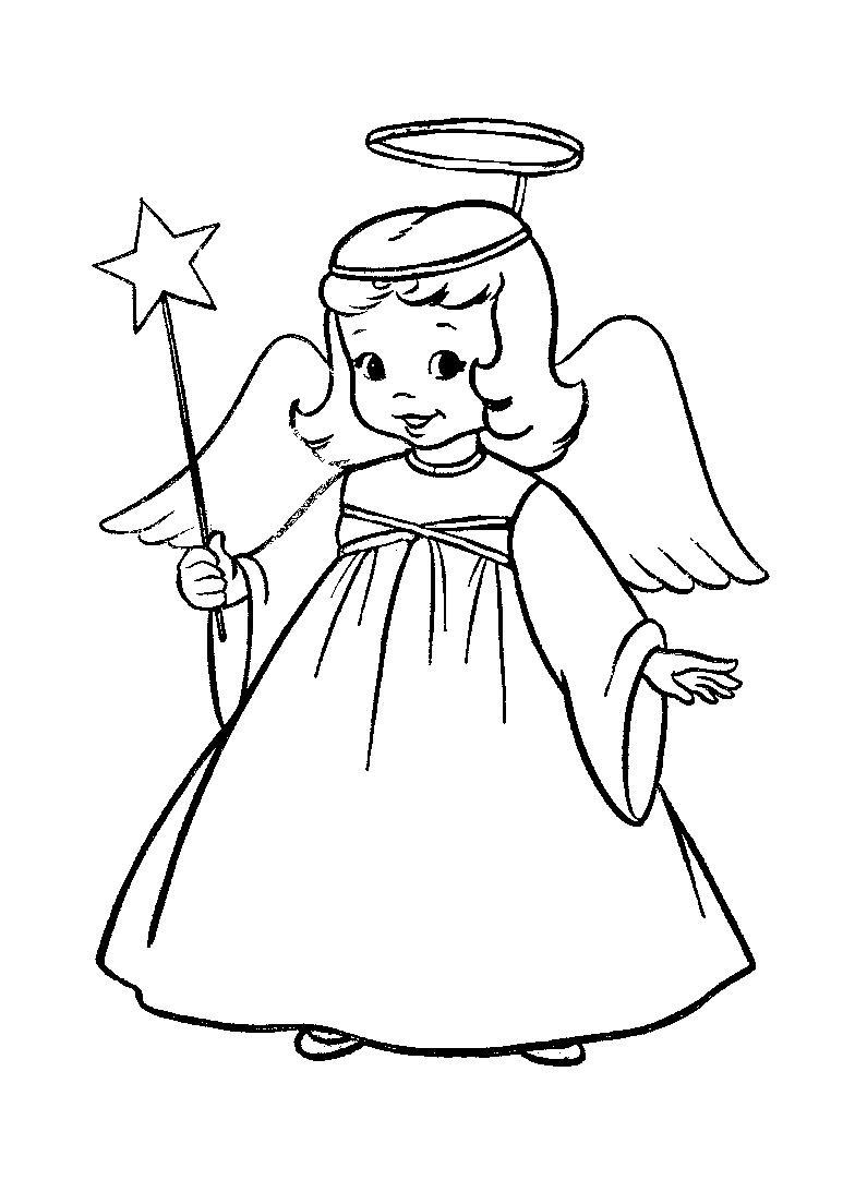 784x1104 Angel Kimono Coloring Page