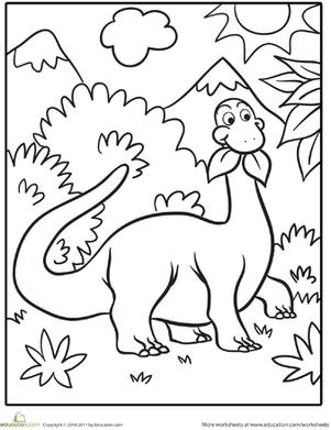 301x391 Cute Dinosaur Coloring Page Google, Searching And Preschool Dinosaur