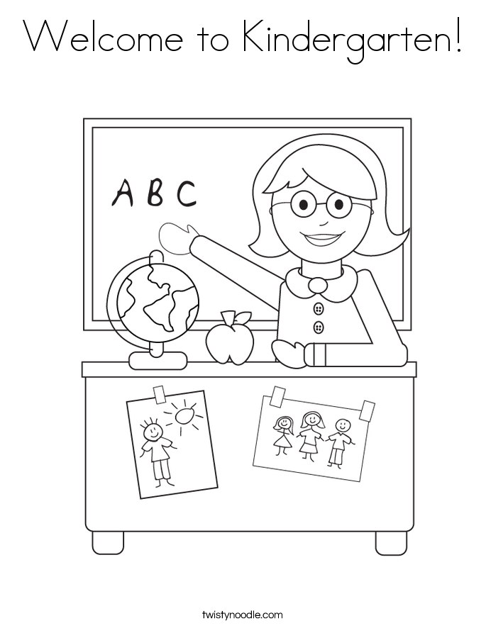 685x886 Welcome To Kindergarten Coloring Page