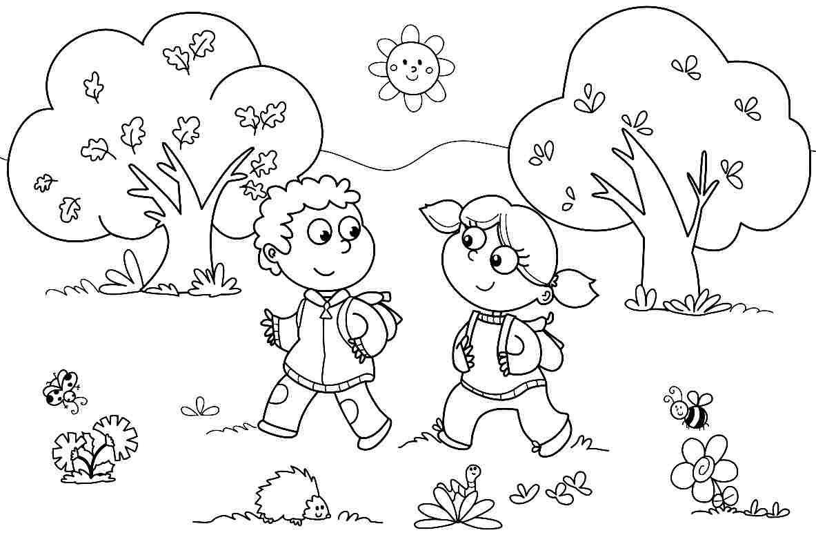 1183x775 Kindergarten Coloring Pages To Print Page