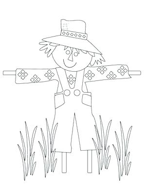 300x400 Free Scarecrow Coloring Pages Scarecrow Coloring Pages Free
