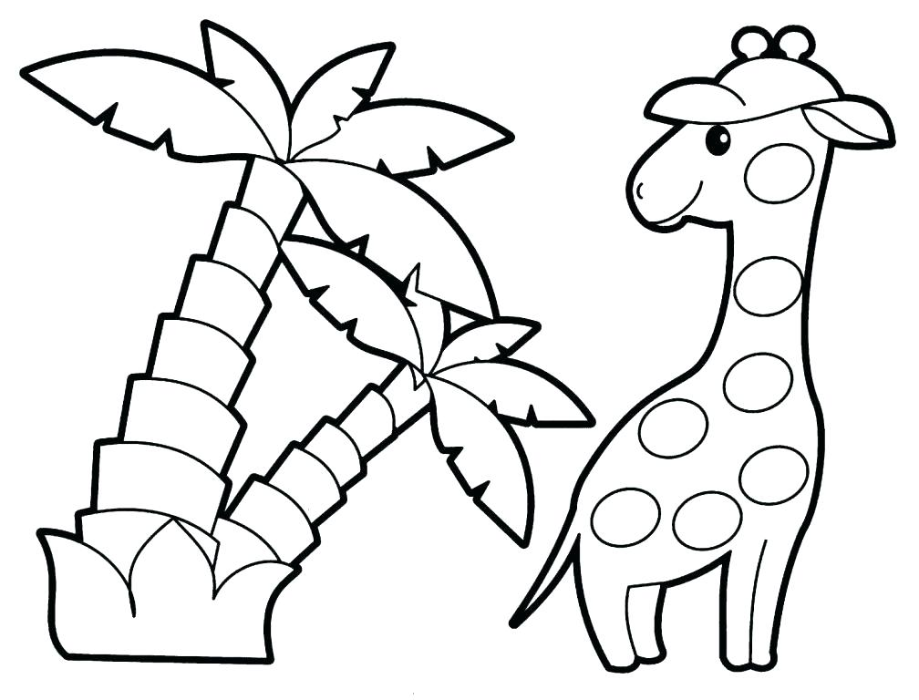 1008x768 Printable Animal Coloring Pages For Toddlers