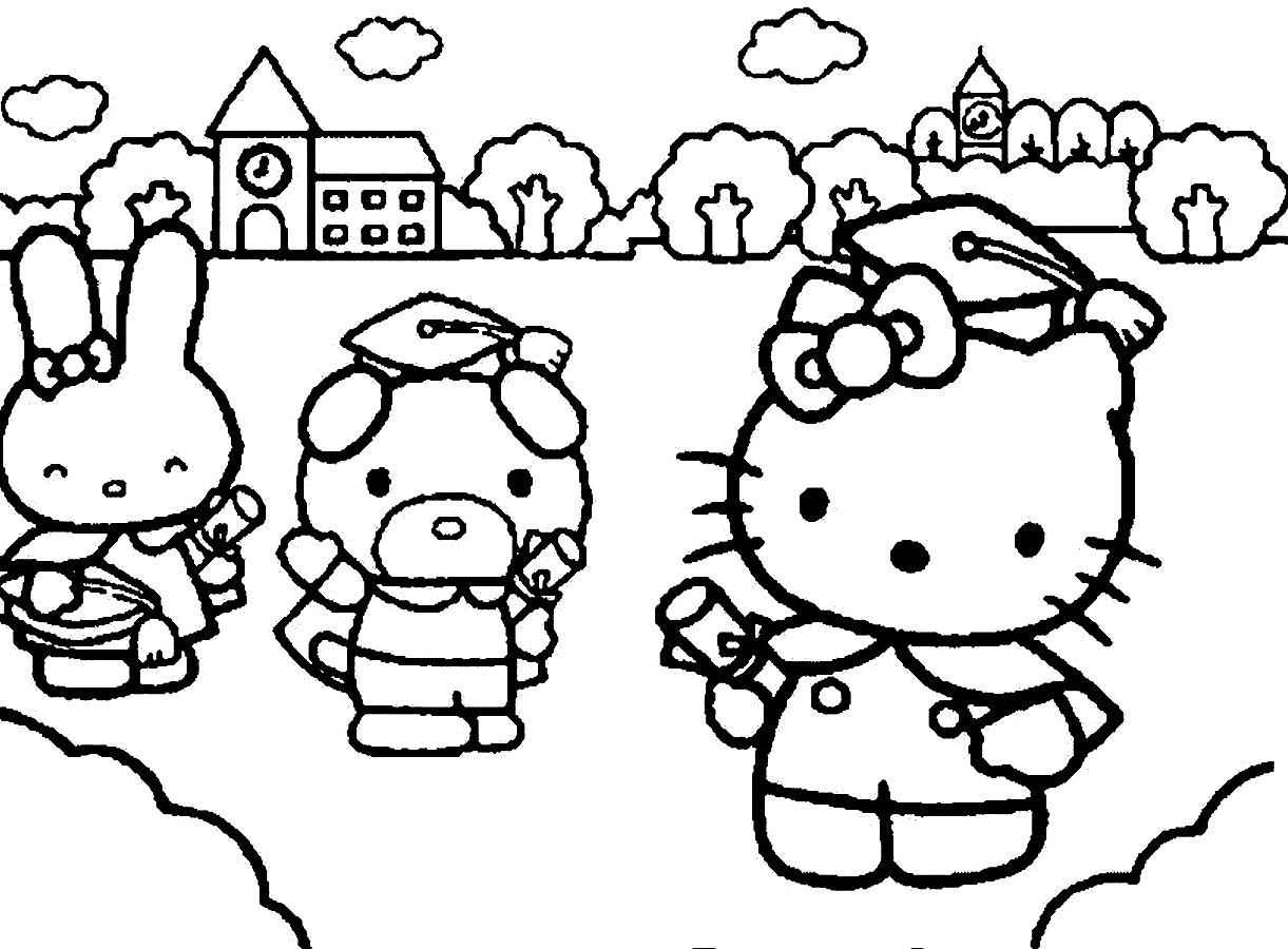 1221x900 Graduation Coloring Pages
