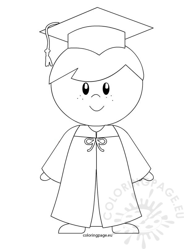 595x804 Graduation Coloring Pages Luxury Kindergarten Boy Graduation